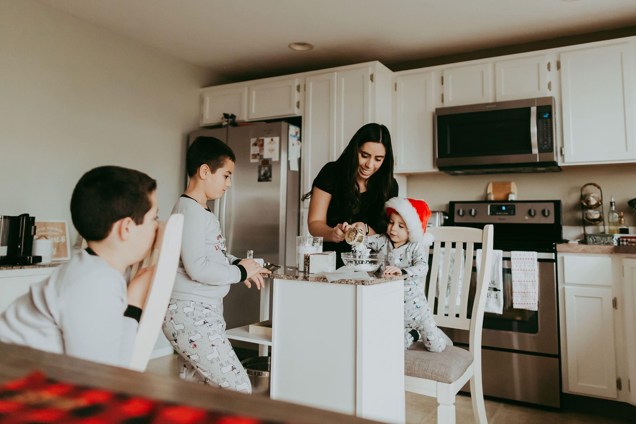 in-home family session in portland oregon