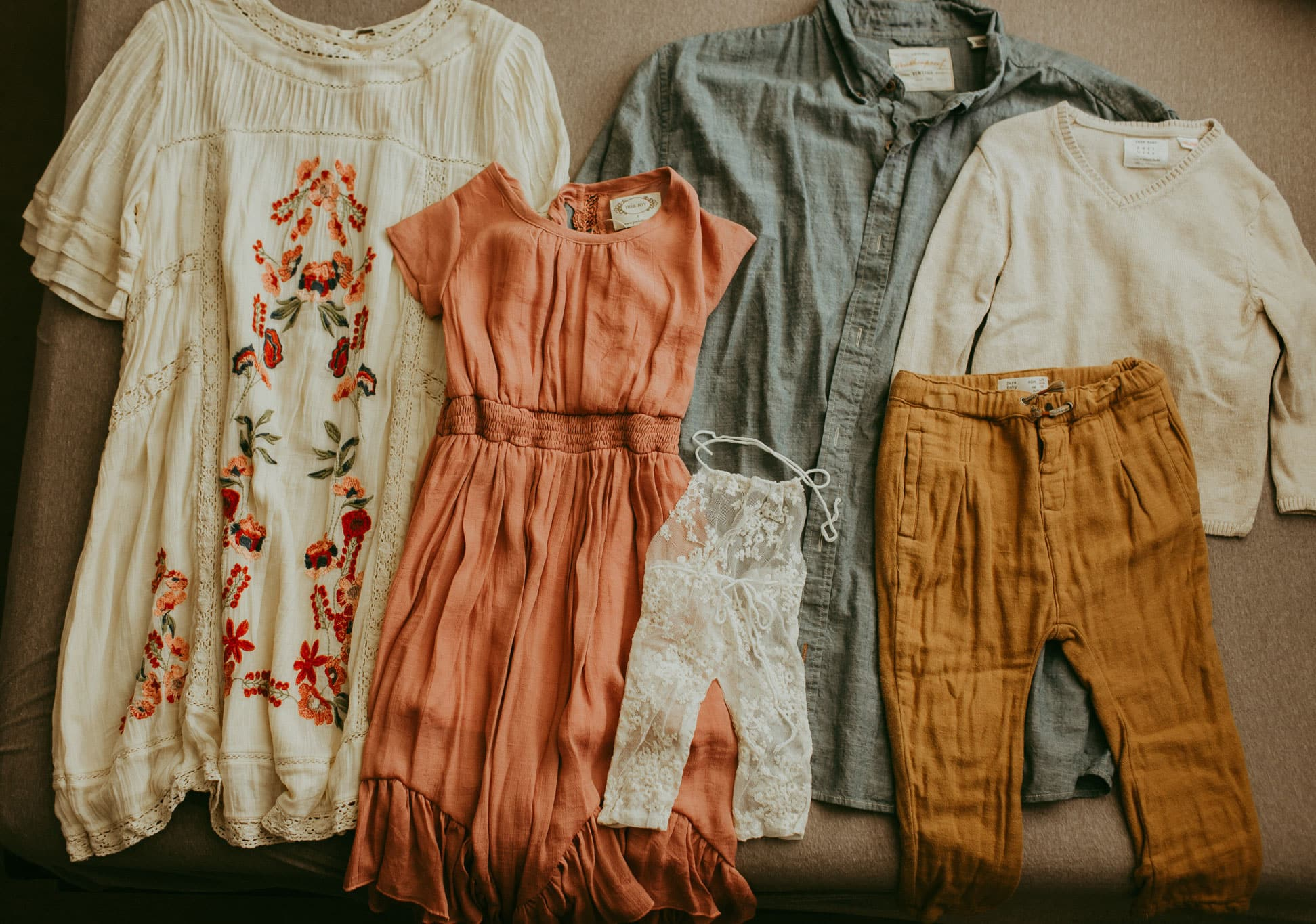 Clothing set out in a great combo - Free People and Joyfolie dresses