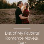 my favorite romance novels ever list