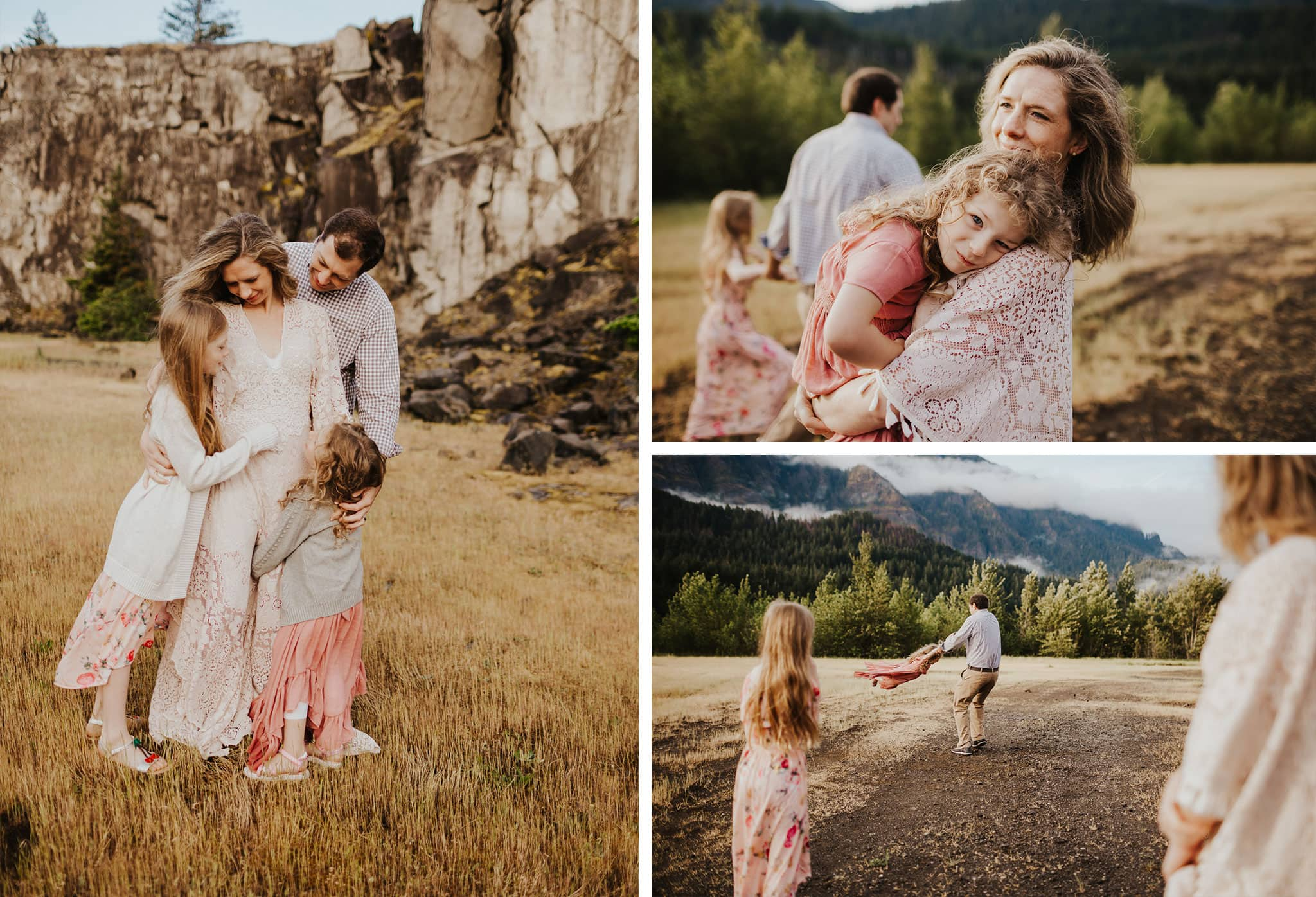 sweet family photography in the columbia river gorge