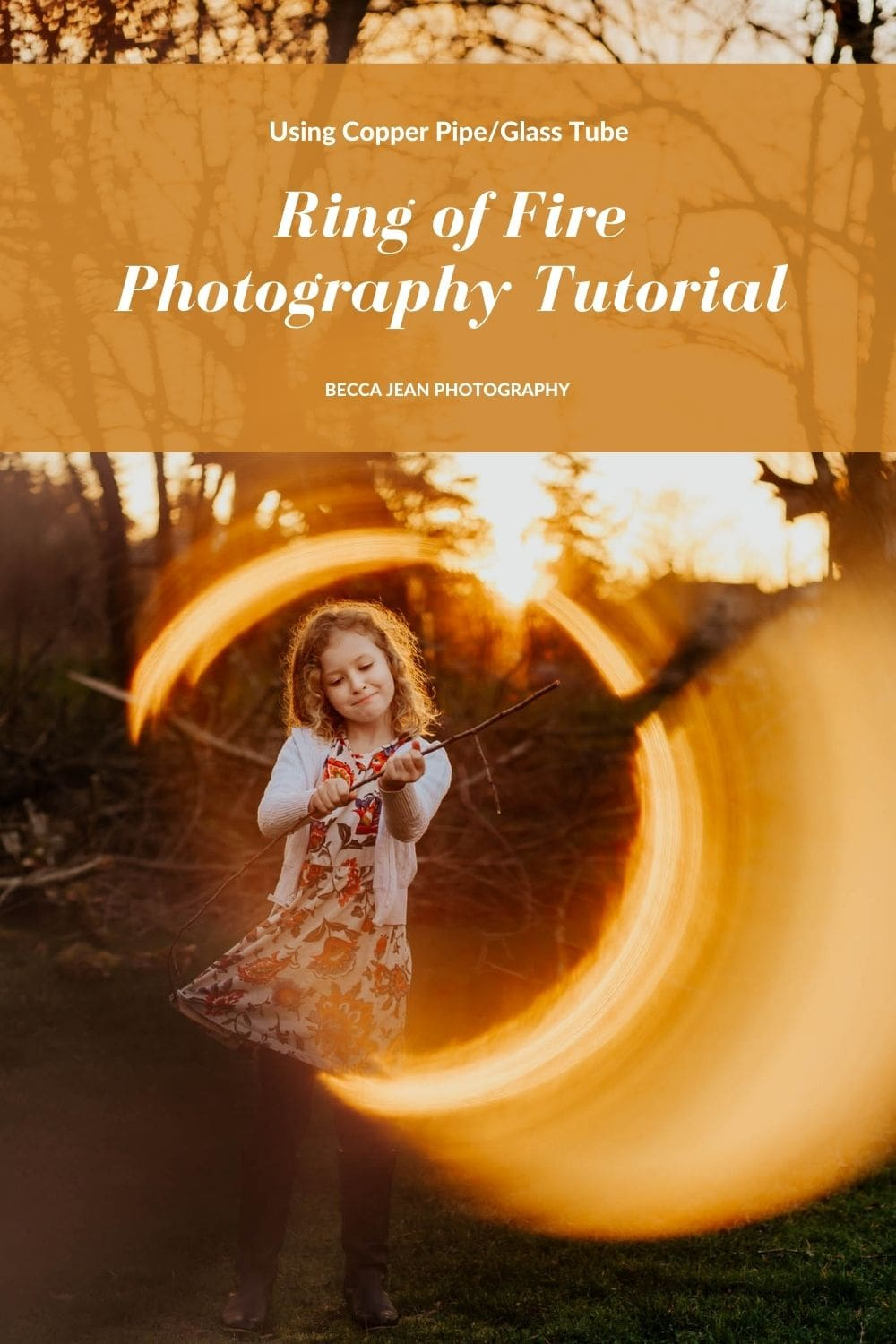 Photography tutorial on how to take photos with a copper pipe or glass tube