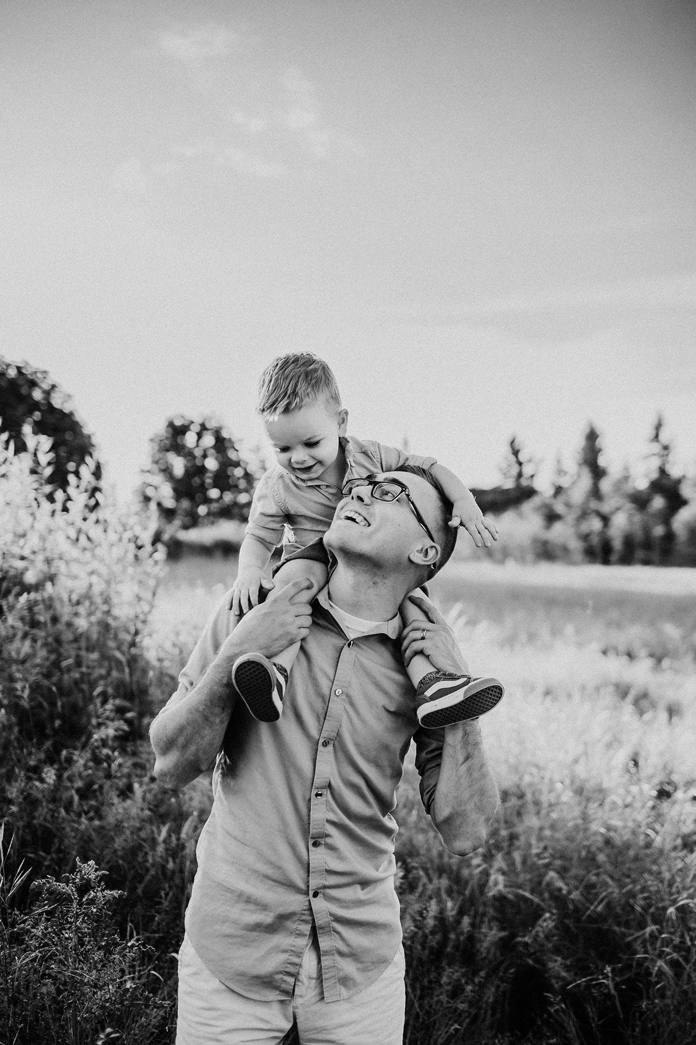 dad and son in portland oregon
