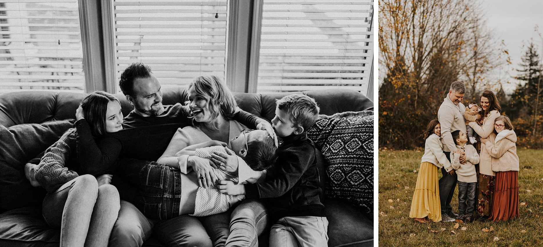 family photography in PDX, candid shots of families