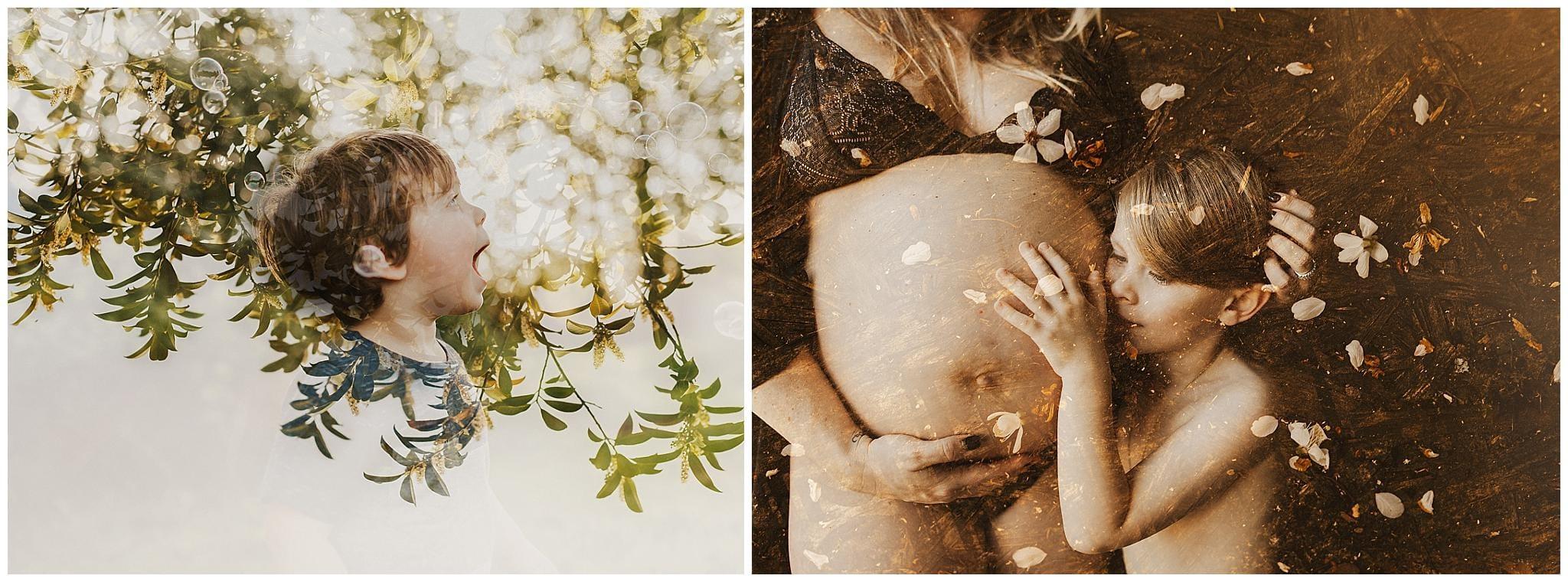 double exposures by portland photographer