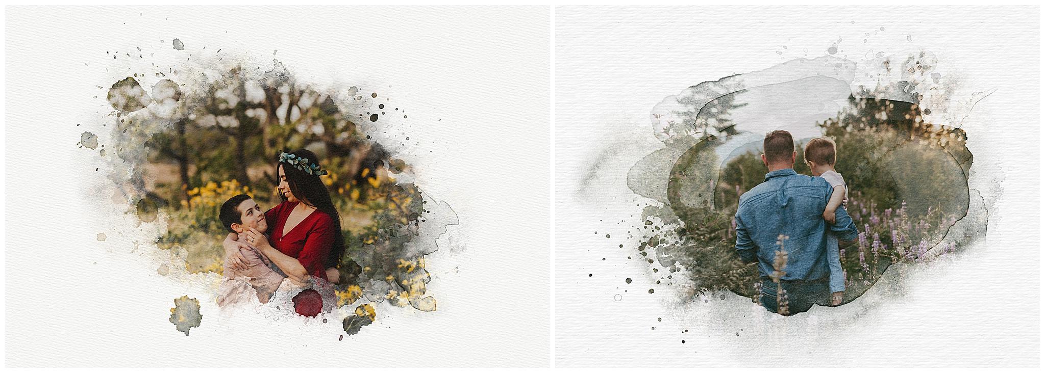 watercolor photoshop images - portland oregon