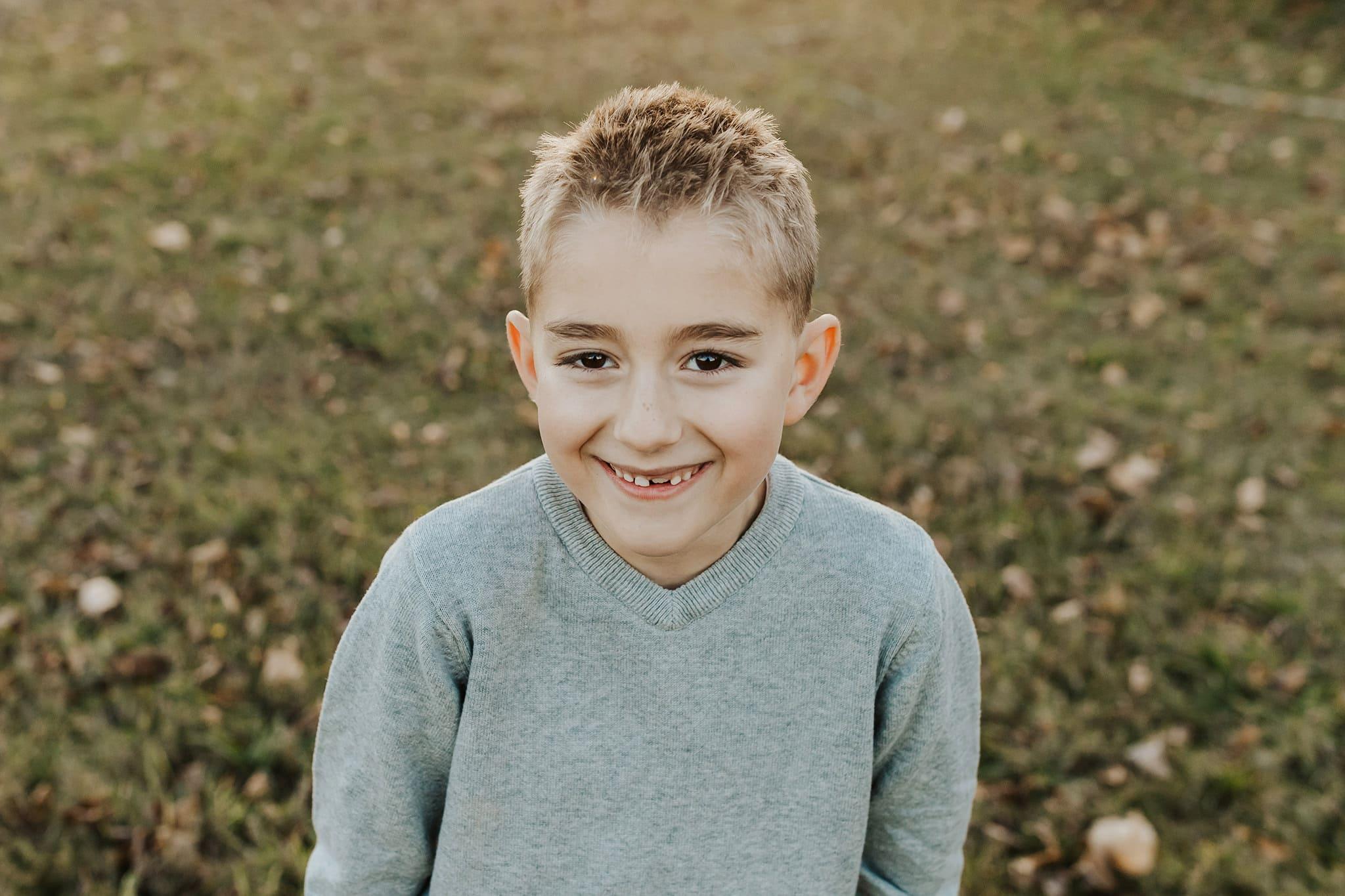 Sweet boy smiling