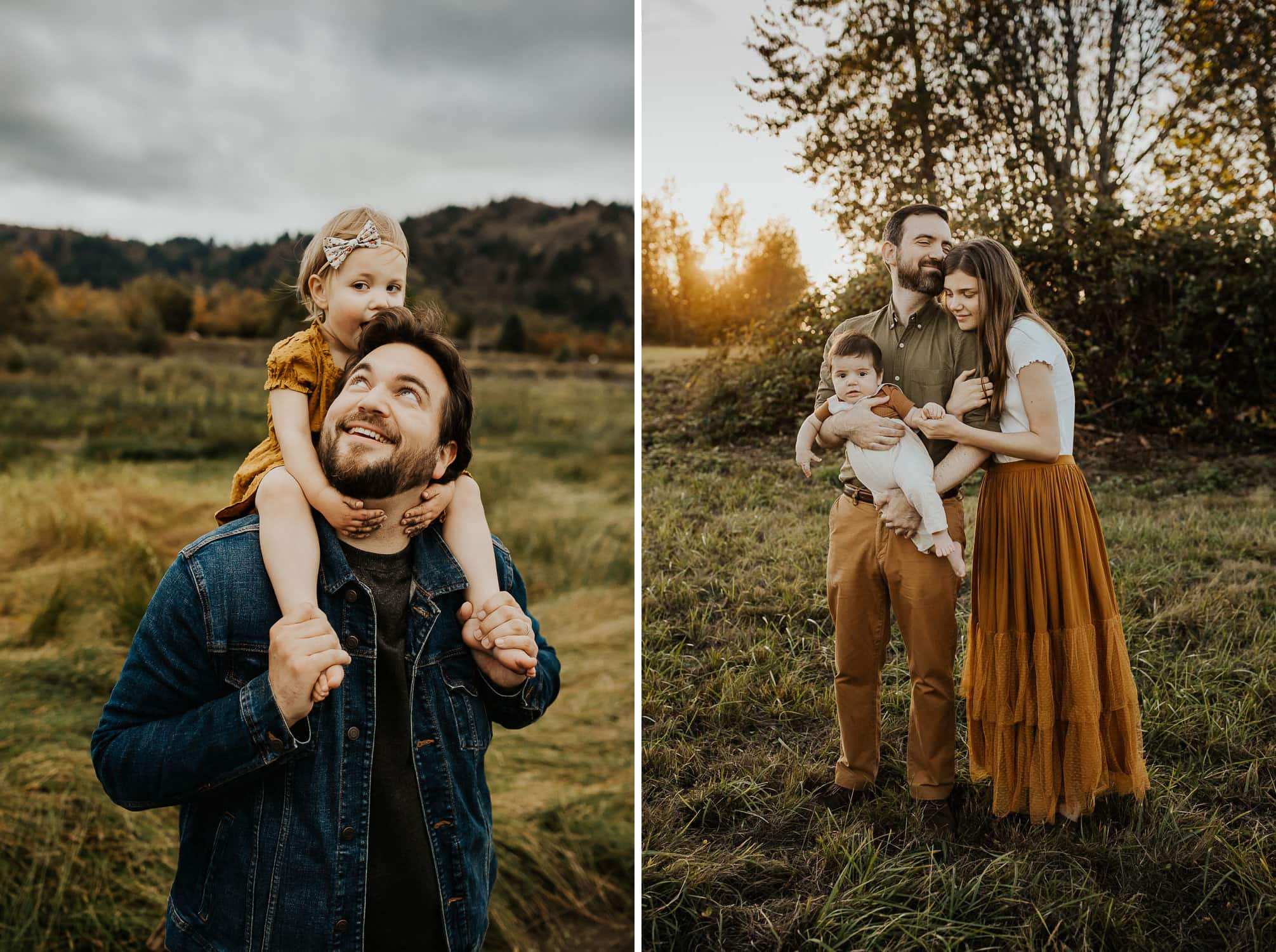 Photos of dads with their kids in Portland Oregon