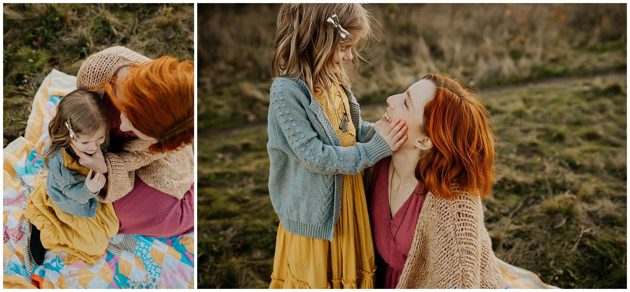 Mommy daughter image collage