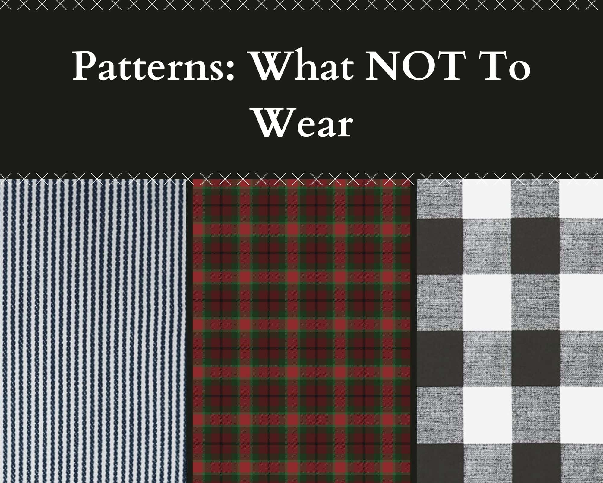 What patterns not to wear for family photos