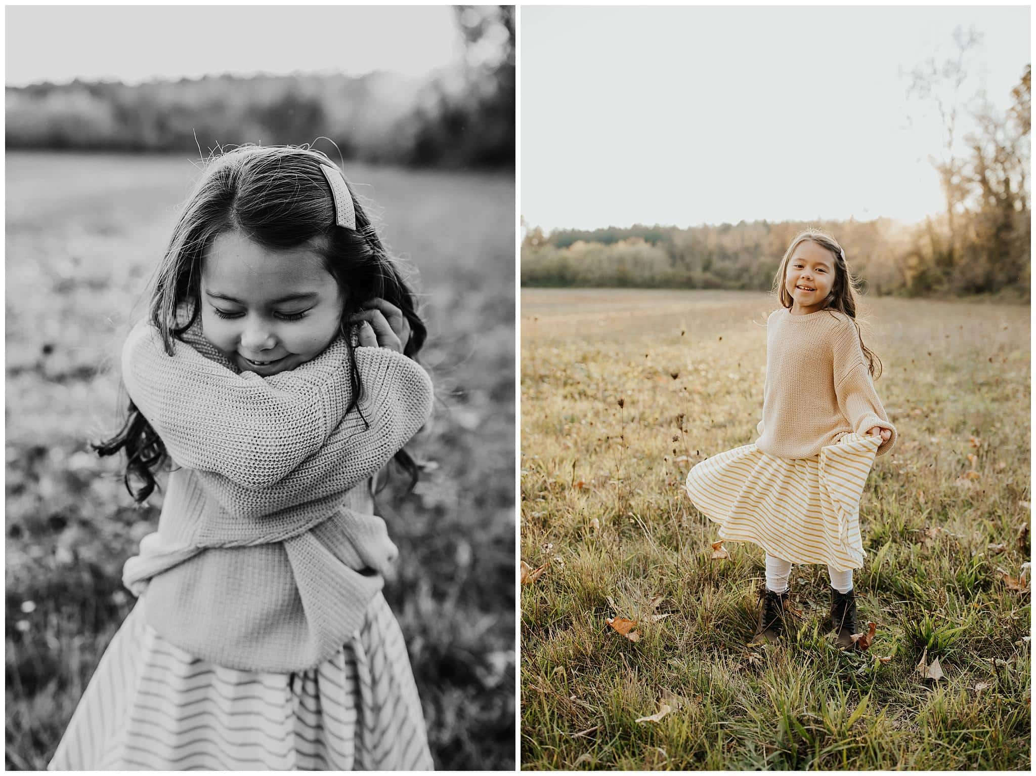 Photos of 7-year-old-girl - candid family photos