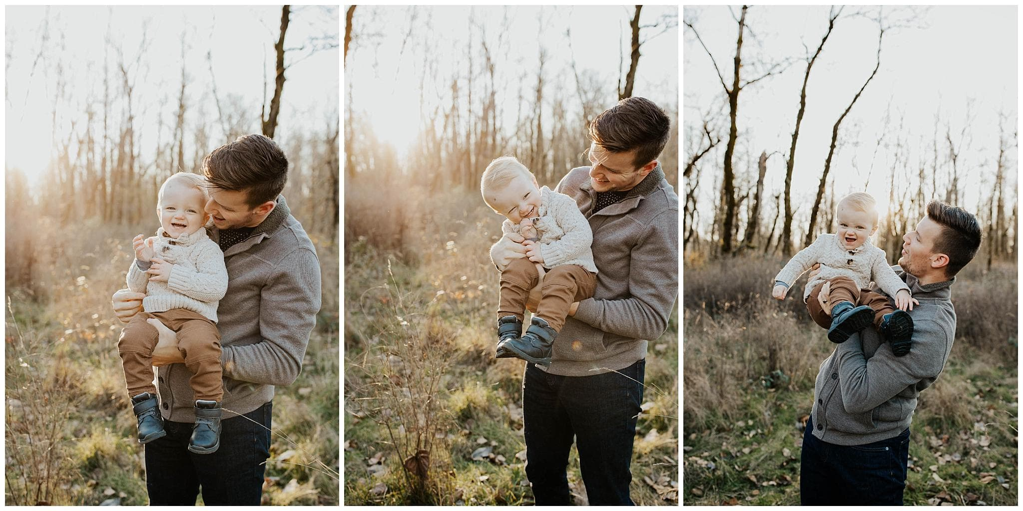 Dad and his toddler boy laughing together - PDX family photographer