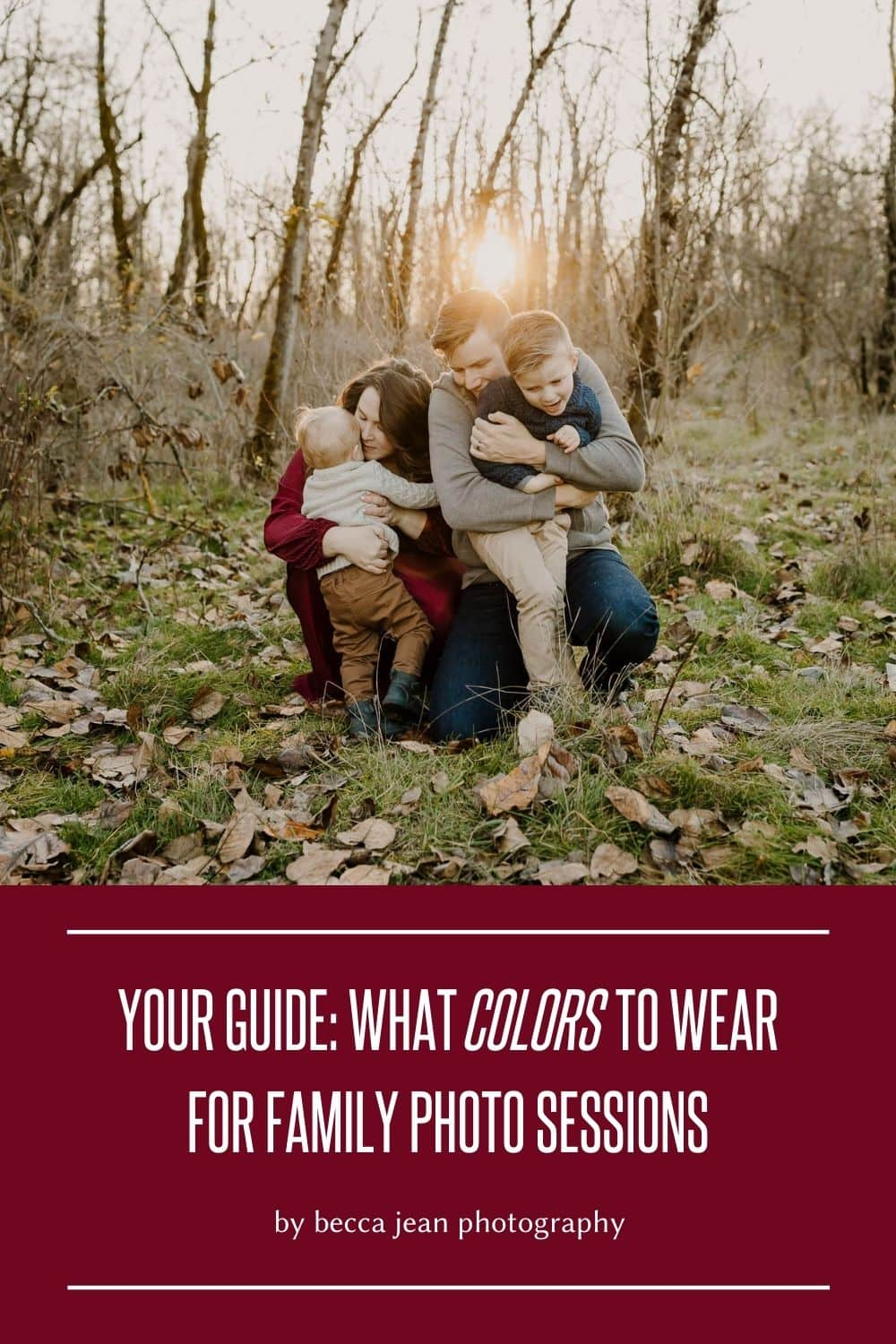 What colors look best for family photos