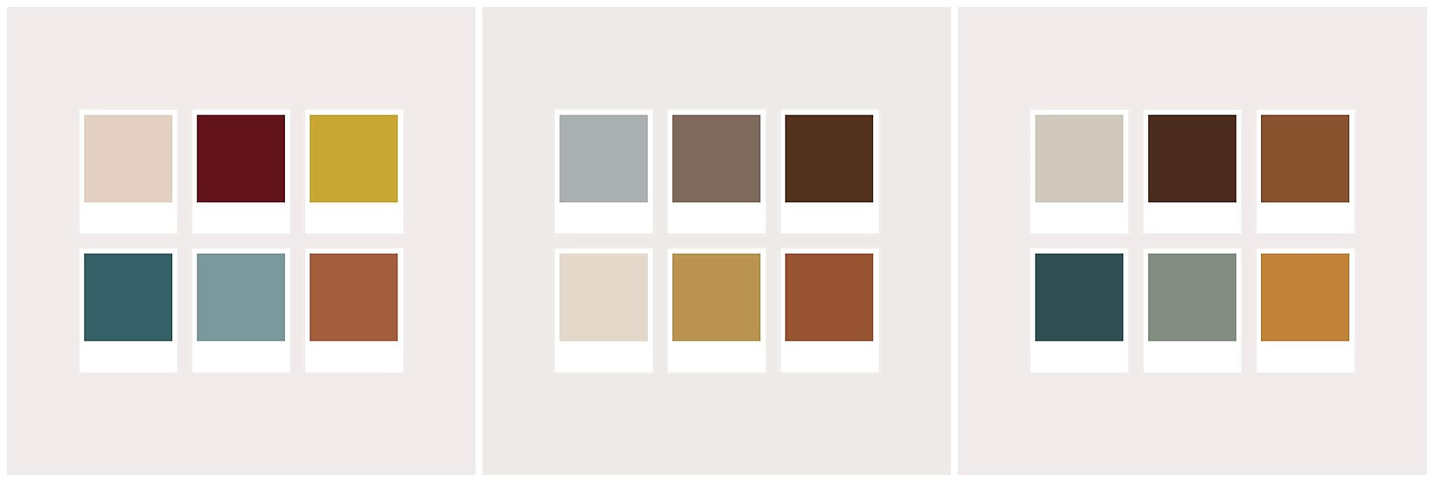 collage of colors to wear for family photos