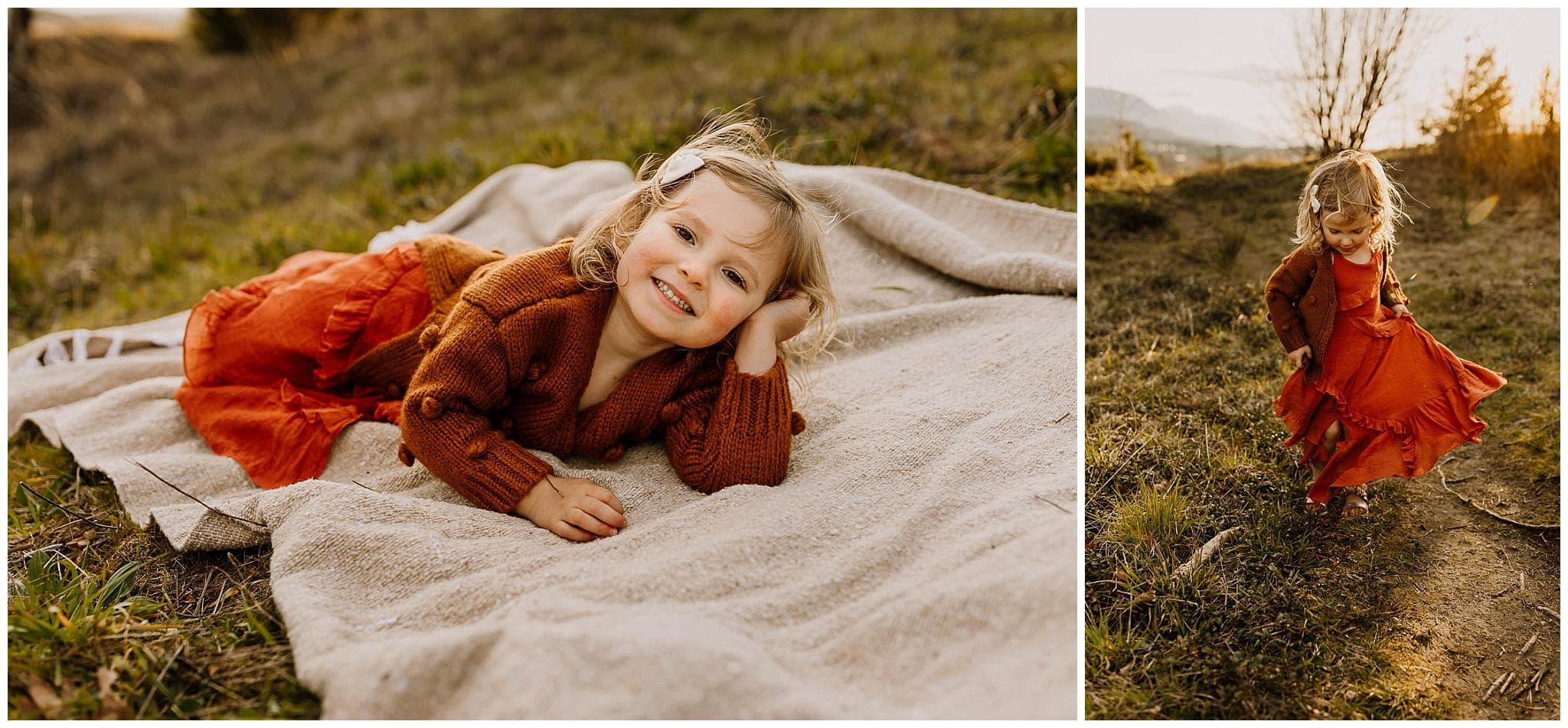 little kid with joyfolie dress on