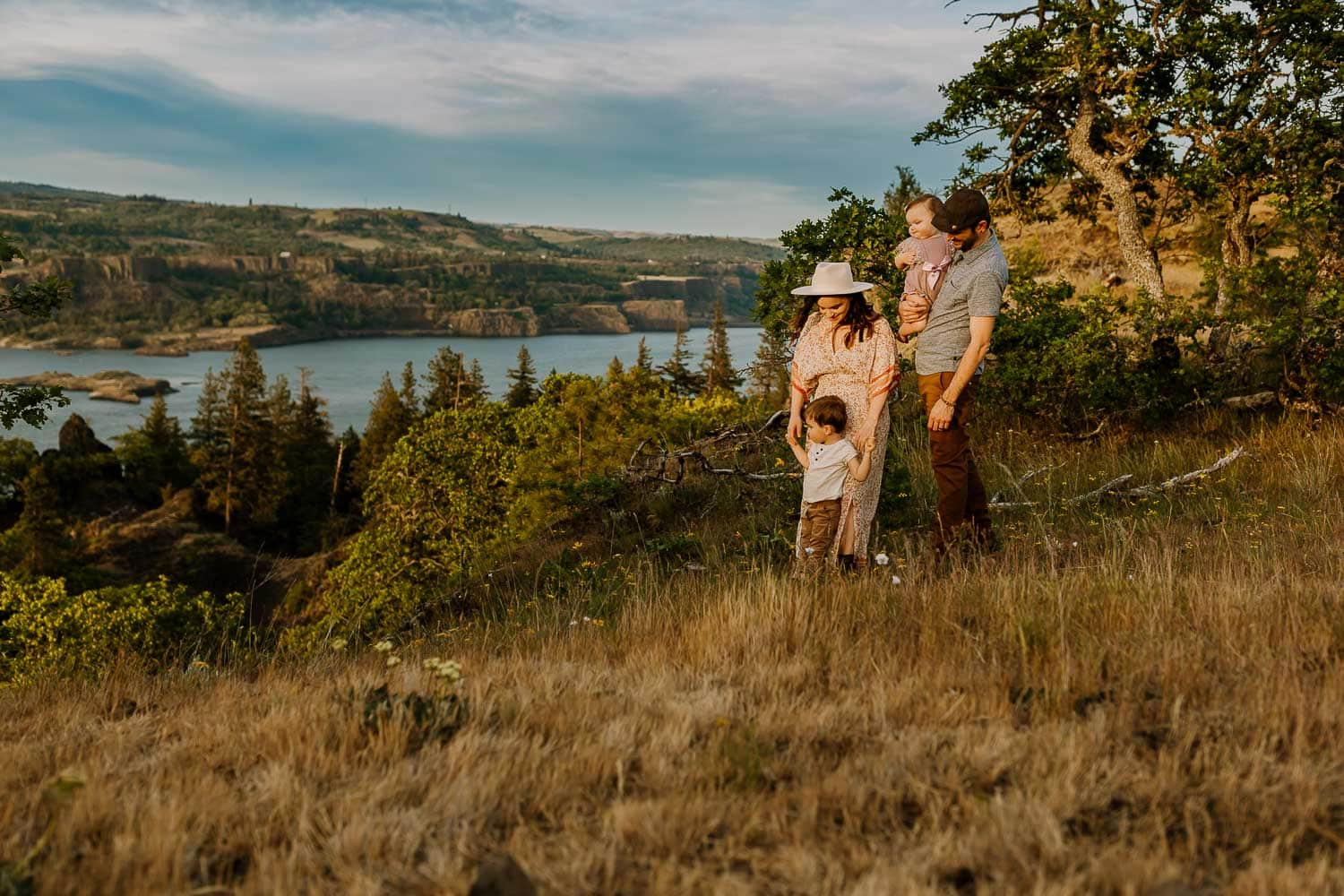 Photo in full sun with beautiful scenic views of the Columbia river gorge